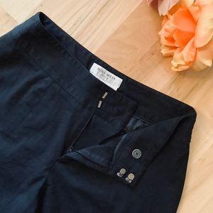 NINE WEST Petite LISA Pants Solid Black size 4P